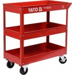 Įrankių vežimėlis su ratukais | 3 lentynos (YT-55210)