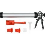 Pistoletas hermetikui aliuminis | su papildomais aksesuarais | 1l/ 380 mm (YT-67583)