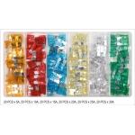 Automobilių saugiklių asortimentas | standartiniai | 120 vnt. (YT-83144)
