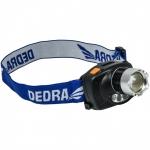 Žibintuvėlis ant galvos 3W LED, fokusavimas, infrared su elementais (L1010)