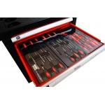Įrankių spintelė su įrankiais, su ratukais, 263 el. (KD362)