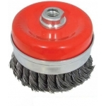 Šepetys vielinis puodo tipo | susuktas / su žiedu | M14 | Ø 100 mm (ES740100R)