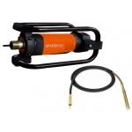 Betono vibratorius 2350W +  Žarna 38mm x 4m, srieginė jungtis (KD10846+KD10847)