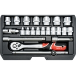 "Įrankių komplektas | 10 mm (3/8"") | 22 vnt. (YT-38561)"