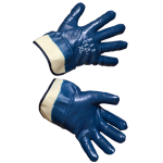 Darbo pirštinės dengtos nitrilu (plačios) (KD624)
