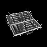 Raktų rinkinys su terkšle (6-32mm) 22vnt. (KD311)