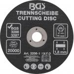 Pjovimo diskas pneumatiniam diskiniam pjovikliui | Ø 75 x 1,8 x 9,7 mm (3286-1)
