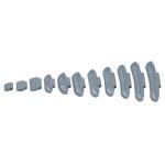 Svareliai balansavimui kalami plieniniams ratlankiams (100vnt) - 5 g(YS26505)