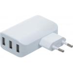 Universalus USB įkroviklis | 3 USB lizdai | maks. 3,4 Iš viso maks. 2,4 A / USB | 110 - 240V (3377)
